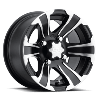ITP Tires SS Alloy SS312 UTV Wheel 12x7 4x115 Black 1228444536B