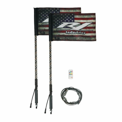 R1 Industries Remote Controlled Wildcat Extreme LED Gen 4 Light Whip 3ft Pair R1-WC3FTPR