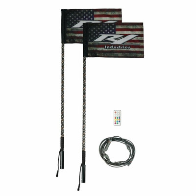 R1 Industries Remote Controlled Wildcat Extreme LED Gen 4 Light Whip 4ft Pair R1-WC4FTPR