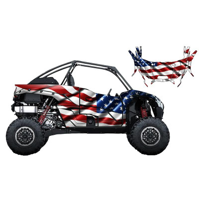 UTV Source Kawasaki KRX 1000 Wrap Kit or USA KRX1000K2D-1