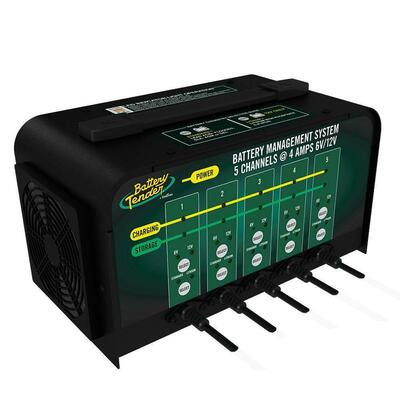 Battery Tender Selectable Battery Charger 5-Bank 021-0133-DL-WH