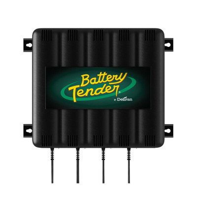 Battery Tender 12V, 1.25 Amp Battery Charger 4-Bank 022-0148-DL-WH