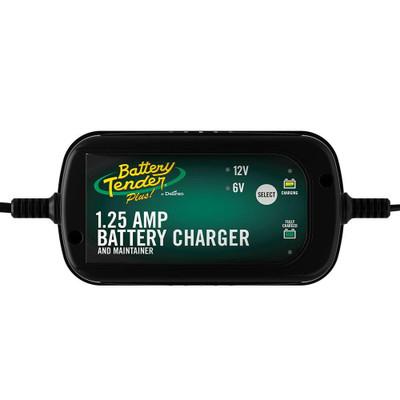 Battery Tender 6V/12V, 1.25 Amp Selectable Battery Charger 022-0211-DL-WH