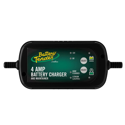 Battery Tender 6V/12V, 4 Amp Selectable Battery Charger 022-0209-BT-WH