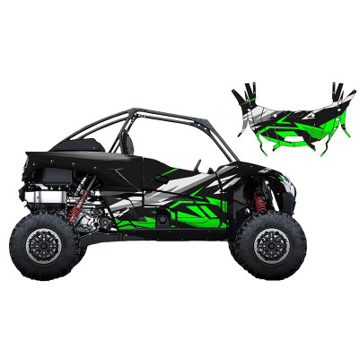 UTV Source Kawasaki KRX 1000 Wrap Kit or Slash Green KRX1000K2D-2