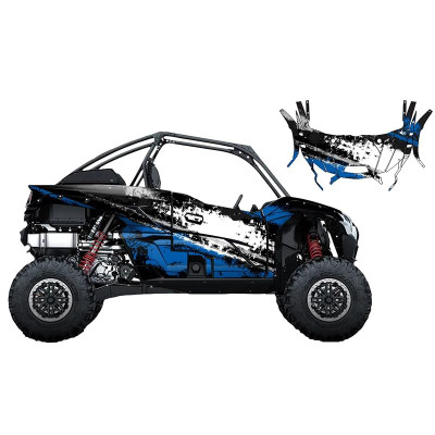 UTV Source Kawasaki KRX 1000 Wrap Kit or Splatter Blue KRX1000K2D-3