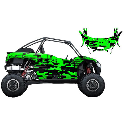 UTV Source Kawasaki KRX 1000 Wrap Kit or Digital Green KRX1000K2D-6