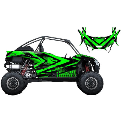 UTV Source Kawasaki KRX 1000 Wrap Kit or Vertex Green KRX1000K2D-7