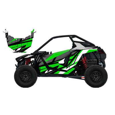UTV Source Polaris RZR Pro XP Wrap Kit or Fracture Green RZRPROXPK2D-1