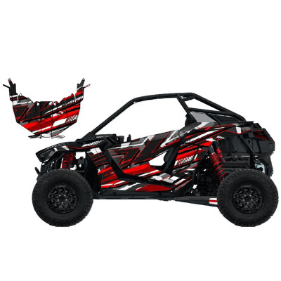 UTV Source Polaris RZR Pro XP Wrap Kit or Cyber Camo Red RZRPROXPK2D-2