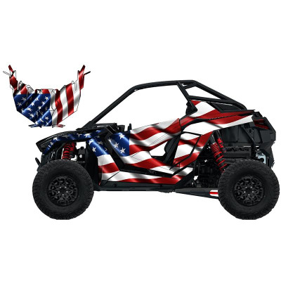 UTV Source Polaris RZR Pro XP Wrap Kit or USA RZRPROXPK2D-3