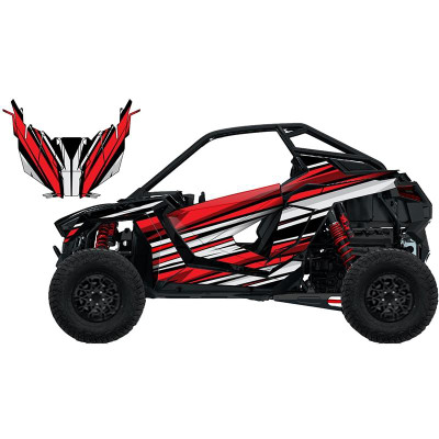 UTV Source Polaris RZR Pro XP Wrap Kit or Warp Speed Red RZRPROXPK2D-7