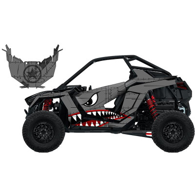 UTV Source Polaris RZR Pro XP Wrap Kit or Bomber RZRPROXPK2D-5