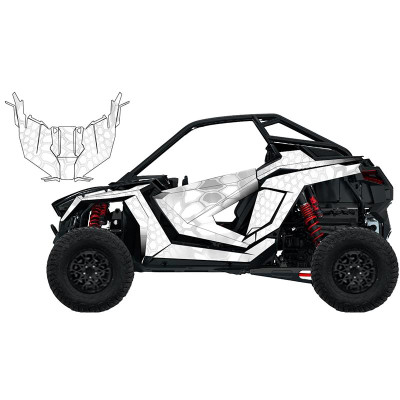UTV Source Polaris RZR Pro XP Wrap Kit or Mamba White RZRPROXPK2D-9