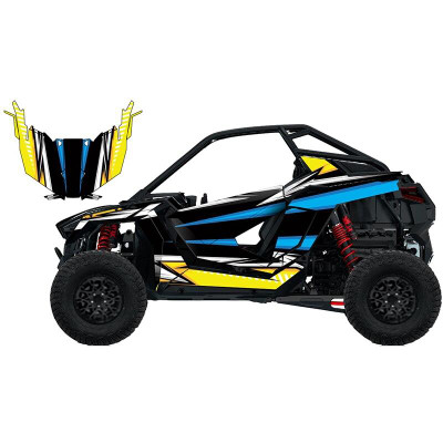 UTV Source Polaris RZR Pro XP Wrap Kit or Shocker Blue/Yellow RZRPROXPK2D-10
