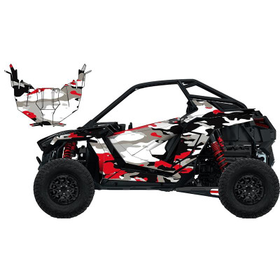 UTV Source Polaris RZR Pro XP Wrap Kit or Frenzy Red RZRPROXPK2D-4