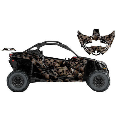 UTV Source Can-Am Maverick X3 Wrap Kit or Skull X3K2D-1