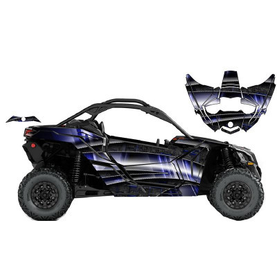 UTV Source Can-Am Maverick X3 Wrap Kit or Tron Blue X3K2D-2