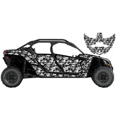 UTV Source Can-Am Maverick X3 MAX Wrap Kit or Snow Camo X3MAXK4D-1