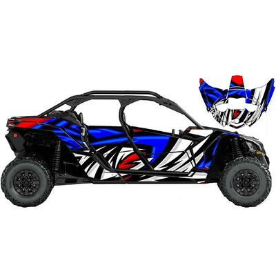 UTV Source Can-Am Maverick X3 MAX Wrap Kit or Sonic Blue/Red X3MAXK4D-5