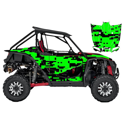 UTV Source Honda Talon Wrap Kit or Digital Green TALON1000K2D-7