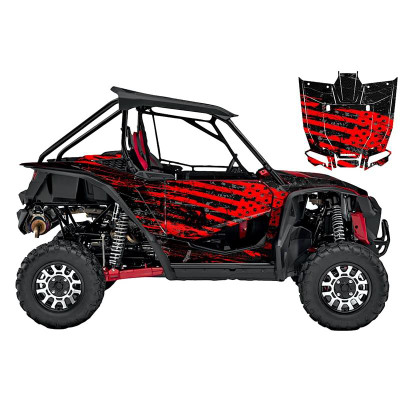 UTV Source Honda Talon Wrap Kit or Shred Red TALON1000K2D-6