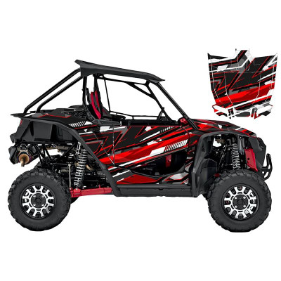 UTV Source Honda Talon Wrap Kit or Cyber Camo Red TALON1000K2D-4
