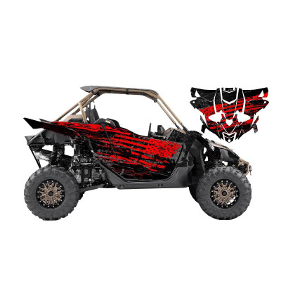 UTV Source Yamaha YXZ 1000 Wrap Kit or Shred Red YXZ1000K2D-1