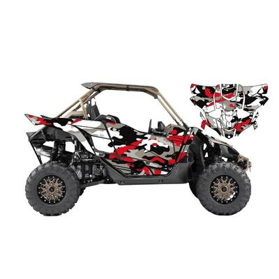 UTV Source Yamaha YXZ 1000 Wrap Kit or Frenzy Red YXZ1000K2D-3