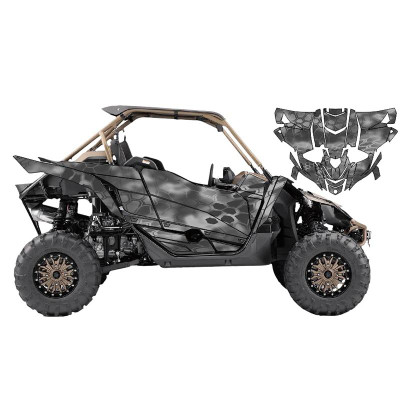 UTV Source Yamaha YXZ 1000 Wrap Kit or Mamba Grey YXZ1000K2D-5