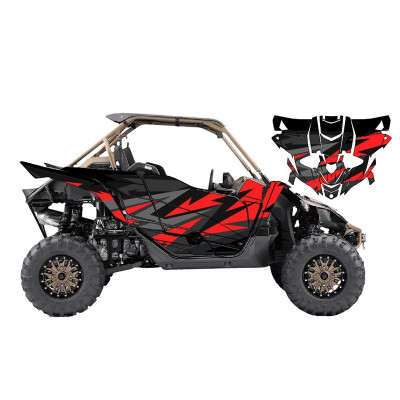 UTV Source Yamaha YXZ 1000 Wrap Kit or Fracture Red YXZ1000K2D-6