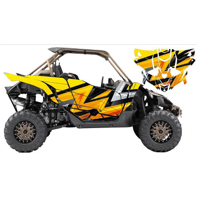 UTV Source Yamaha YXZ 1000 Wrap Kit or Pow Yellow YXZ1000K2D-7