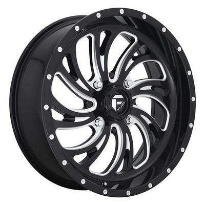 Fuel Offroad D641 Kompressor UTV Wheel 22X7 4X137 Gloss Black Milled D6412270A644