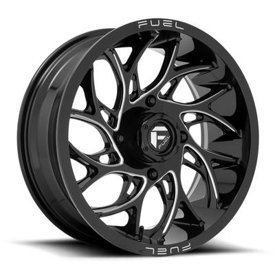 Fuel Offroad RUNNER UTV Wheel 18X7 4X156 Gloss Black Milled D7411870A544