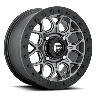 Fuel Offroad D916 Tech Beadlock UTV Wheel 15X10 4X137 Gun Metal Black Bead Ring D9191500A654