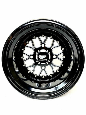 Packard Performance Wishbone UTV Wheel Set 15x9 and 15x11 4x156 Gloss Black PP-WB-911-SET-156
