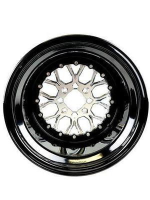 Packard Performance Wishbone UTV Wheel Set 15x9 and 15x11 4x110 Silver PP-WB-911-SET-4X110-SL
