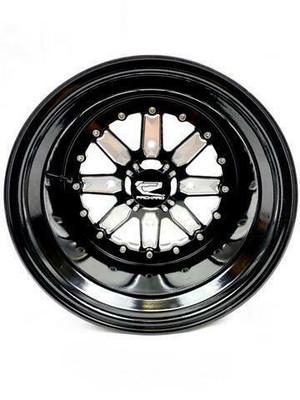 Packard Performance Import UTV Wheel Set 15x7 and 15x11 4x137 Gloss Black PP-IMPT-711-SET-137