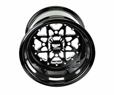 Packard Performance V2 Super Star UTV Wheel Set 15x7 4x137 Gloss Black PP-V2-15X7-SET-137