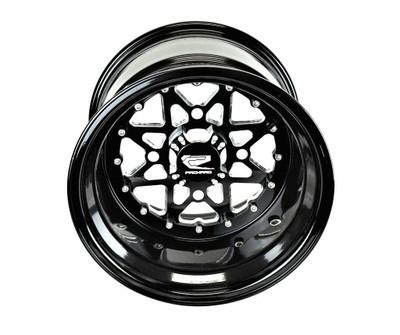 Packard Performance V2 Super Star UTV Wheel Set 15x9 and 15x11 4x137 Gloss Black PP-V2-911-SET-137