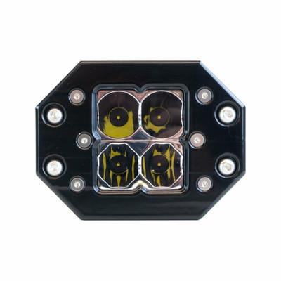 Heretic Studio 6 Series Billet LED Quattro Flush Mount Light Flood HS-6S-QFMF