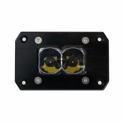 Heretic Studio 6 Series Billet LED BA-2 Flush Mount Light Bar Flood HS-6S-BA2F