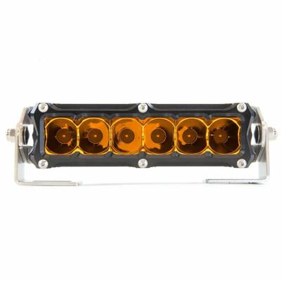 Heretic Studio 6 Series Billet LED Light Bar 6 Flood Amber HS-6S-LB6FA