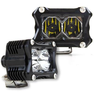 Heretic Studio 6 Series Billet LED BA-2 Light Bar Pair Spot HS-6S-2LBS