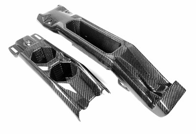 FourWerx Carbon Can-Am Maverick X3 Carbon Fiber Rear Console w/ Cup Holders (FWC-X3-RCC)