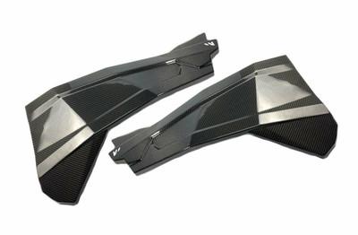 FourWerx Carbon Polaris RZR 1000 Carbon Fiber Upper Door Skins Front FWC-RZR-UDS