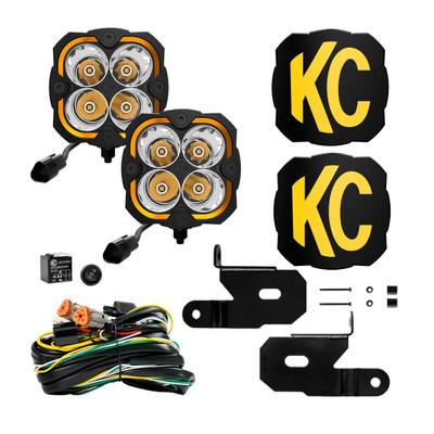 KC HiLiTES Jeep JK FLEX ERA 4 LED Light Spot Pair 97138