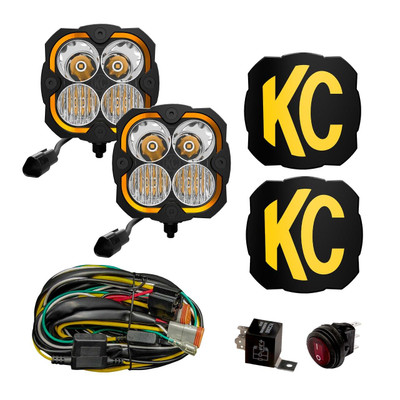 KC HiLiTES Jeep JL/JT FLEX ERA 4 LED Light Combo Pair 97141