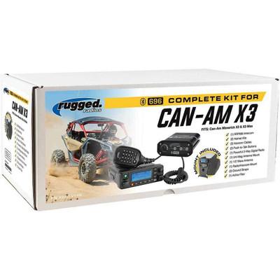 Rugged Radios Can-Am Maverick X3 Complete UTV Kit with Dash Mount X3-KIT-V1-HK