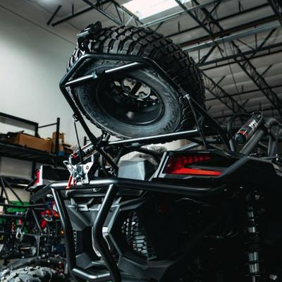 Geiser Performance Can-Am Maverick X3 Tire Rack and Bumper Combo Black GP018CB025